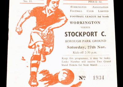 Workington v Stockport City 27.11.1954
