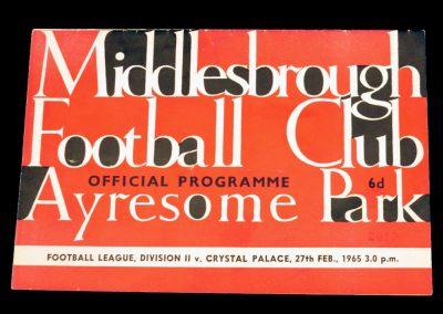 Crystal Palace v Middlesbrough 27.02.1965