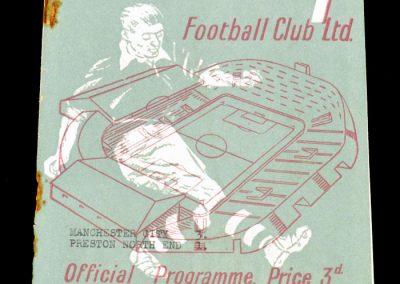 Man City v Preston North End 18.12.1954