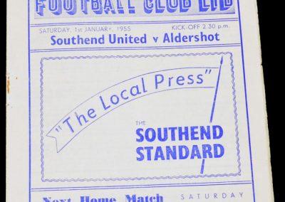 Southend United v Aldershot 01.01.1955