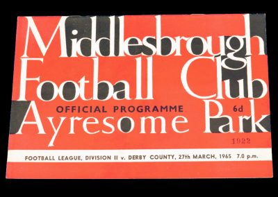 Derby County v Middlesbrough 27.03.1965