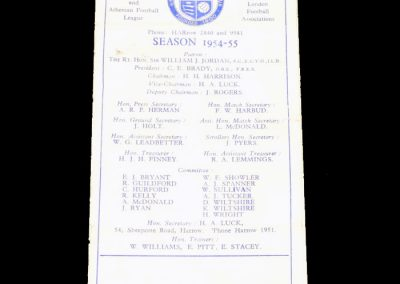 Wealdstone v Wycombe 01.01.1955   FA Cup 1st Round Replay