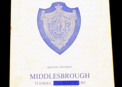 Huddersfield Town v Middlesbrough 30.03.1965