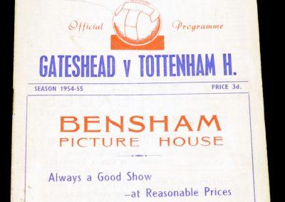 Gateshead v Tottenham hotspur 08.01.1955   FA Cup 3rd round