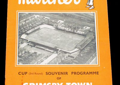 Grimsby Town v Wolverhampton Wanderers 08.01.1955   FA Cup 3rd Round