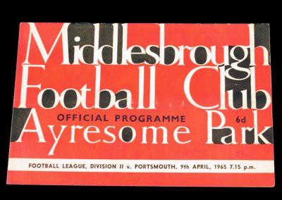 Portsmouth v Middlesbrough 09.04.1965