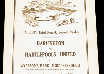 Darlington v Hartlepools United 17.01.1955   FA Cup 3rd Round 2nd Replay