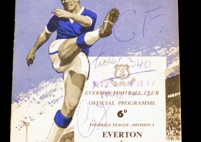Everton v Manchester United 22.08.1962