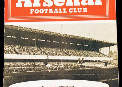Arsenal v Manchester United 25.08.1962