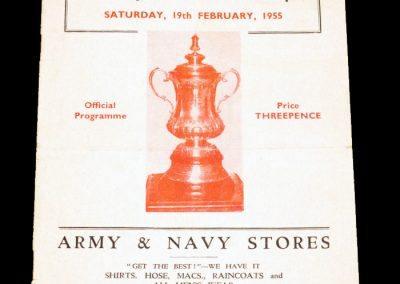 York city v Tottenham Hotspur 19.02.1955   FA Cup 5th Round