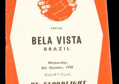 Sheffield United v Bela Vista FC | 4-0 | 08.10.1958 | Tour of Europe