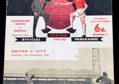 Burnley v Manchester United 22.09.1962