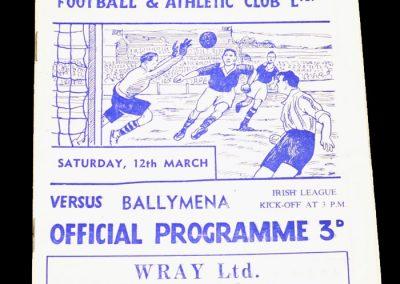 Lurgan Glenavon v Ballymena 12.03.1955
