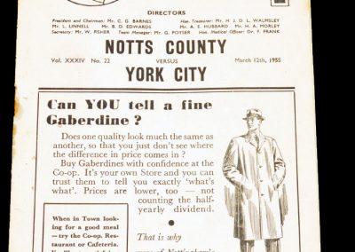Notts County v York City 12.03.1955