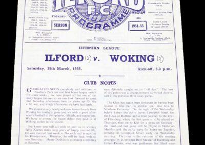Ilford v Woking 19.03.1955