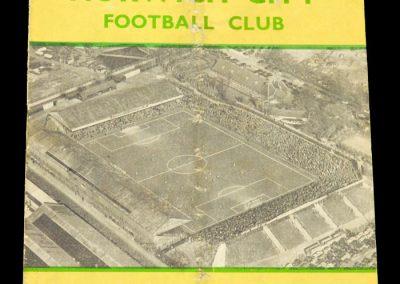 Norwich City v Darlington FC 04.01.1958 | FA Cup 3rd Round