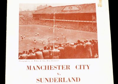Man city v Sunderland 26.03.1955   FA Cup Semi Final