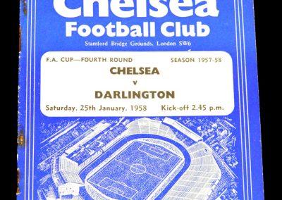 Chelsea v Darlington 25.01.1958 | FA Cup 4th Round