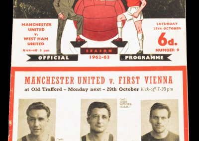 West Ham United v Manchester United 27.10.1962