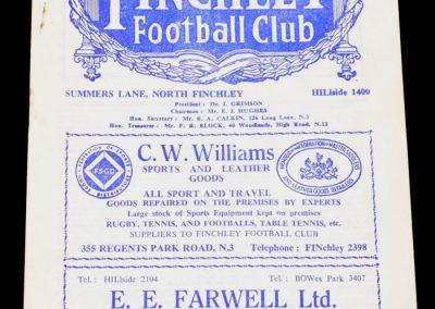 Barnet v Walth'Stow 26.03.1955   FA Amateur Cup