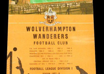 Wolverhampton Wanderers v Darlington FC 15.02.1958 | FA Cup 5th Round