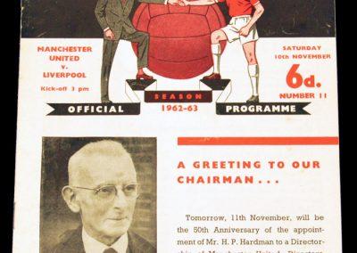Liverpool v Manchester United 10.11.1962