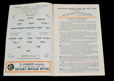 Wolverhampton Wanderers v Aston Villa 11.04.1955