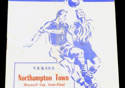 Peterborough United v Northampton 21.04.1955   Maunsell Cup Semi-final