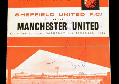 Sheffield United v Manchester United 01.12.1962