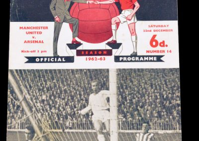 Arsenal v Manchester United 22.12.1962 | Abandoned