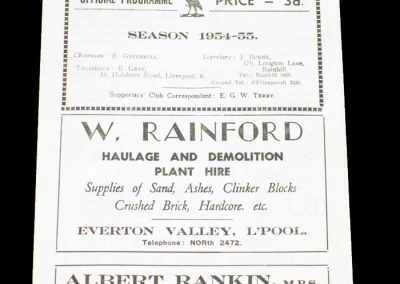 Liverpool City v Widnes 25.04.1955   Rugby League