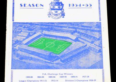 Blackburn Rovers v Bury 30.04.1955