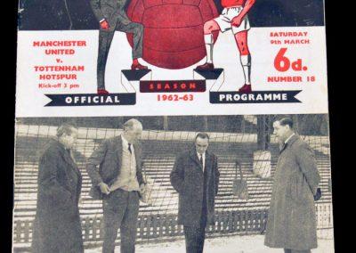 Tottenham Hotspur v Manchester United 09.03.1963