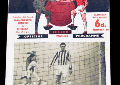 Chelsea v Manchester United 16.03.1963 | FA Cup 5th Round