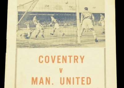 Coventry City v Manchester United 30.03.1963 | FA Cup 6th Round