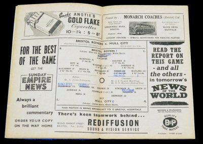 Bristol Rovers v Hull City 02.04.1955