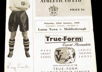 Luton Town v Middlesbrough 22.01.1955