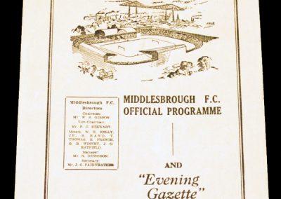 Middlesbrough FC v Hartlepools Reserves 02.04.1955