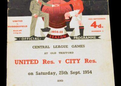 Huddersfield Town v Manchester United 18.09.1954