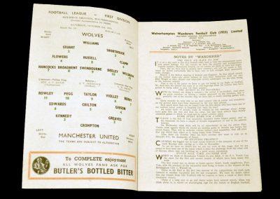Wolverhampton Wanderers v Manchester United 02.10.1954