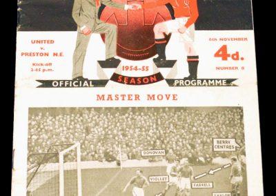 Preston North End v Manchester United 06.11.1954