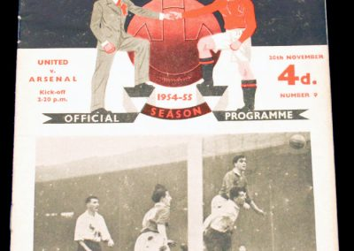 Arsenal v Manchester United 20.11.1954