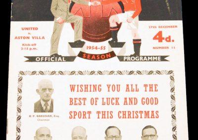 Aston Villa v Manchester United 27.12.1954