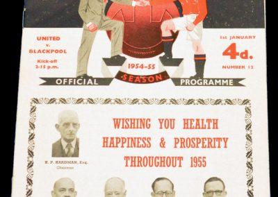 Blackpool v Manchester United 01.01.1955