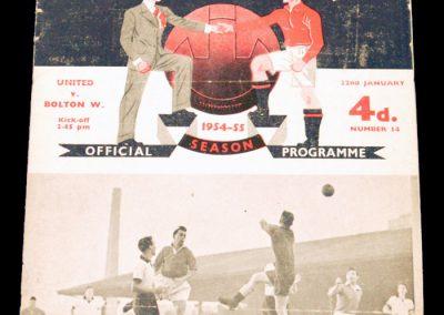 Bolton Wanderers v Manchester United 22.01.1955