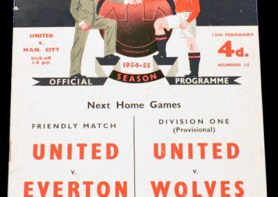 Manchester City v Manchester United 12.02.1955