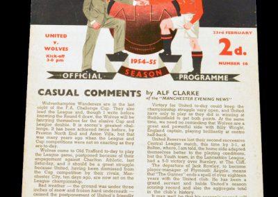 Manchester United v Wolverhampton Wanderers 23.02.1955
