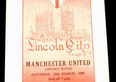 Lincoln City v Manchester United 12.03.1955   Friendly