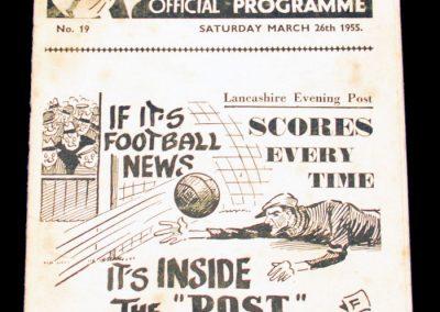 Preston North End v Manchester United 26.03.1955