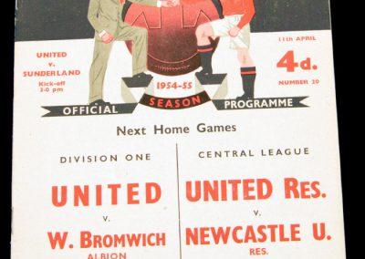 Sunderland v Manchester United 11.04.1955